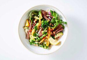 Sumac beef sirloin and vegetable stir-fry